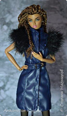 Сумка и кожаный жилет для куклы фото 1