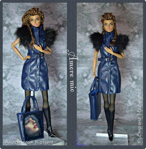 Сумка и кожаный жилет для куклы фото 2