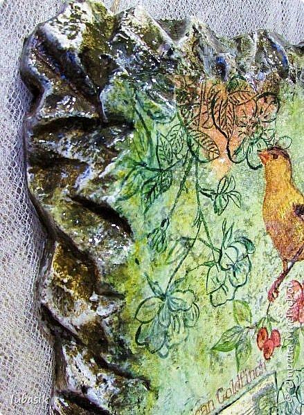 Здравствуйте, мои дорогие, мои любимые и невероятно талантливые соседи по Стране! Сегодня у меня несколько работ, которые хочу представить вашему вниманию. Эти панно на пеноплексе (имитация фрески на камне) делала специально для замечательной мастерицы, рада что мой подарок ей понравился. фото 8