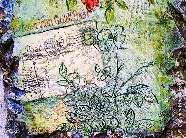 Здравствуйте, мои дорогие, мои любимые и невероятно талантливые соседи по Стране! Сегодня у меня несколько работ, которые хочу представить вашему вниманию. Эти панно на пеноплексе (имитация фрески на камне) делала специально для замечательной мастерицы, рада что мой подарок ей понравился. фото 7