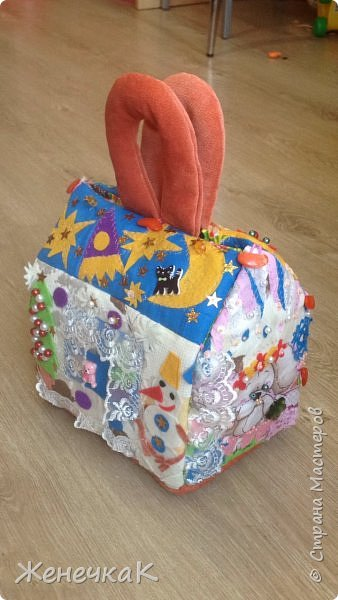Домик-сумка для доченьки. Стороны-времена года, крыша-день/ночь. фото 2