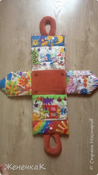 Домик-сумка для доченьки. Стороны-времена года, крыша-день/ночь. фото 6