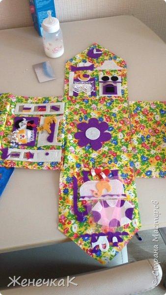 Домик-сумка для доченьки. Стороны-времена года, крыша-день/ночь. фото 9