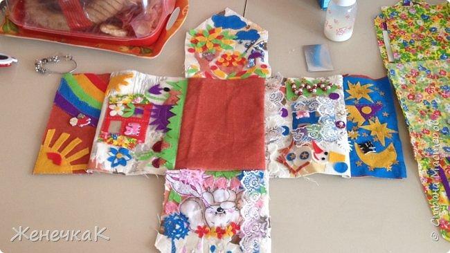 Домик-сумка для доченьки. Стороны-времена года, крыша-день/ночь. фото 10