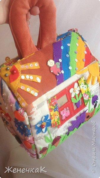 Домик-сумка для доченьки. Стороны-времена года, крыша-день/ночь. фото 11