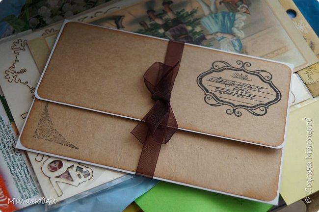 Всем здравствуйте! Этот пост продолжение этого http://stranamasterov.ru/node/1100664 Коричневые коробочки были с вырубкой, а беленькие с открыточками. Собирала сразу 4 посылочки и даже не знаю кому из девчат какая коробочка и открыточка достались. фото 30