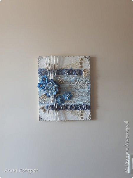 """""""Голубой цветок"""". Панно. фото 2"""