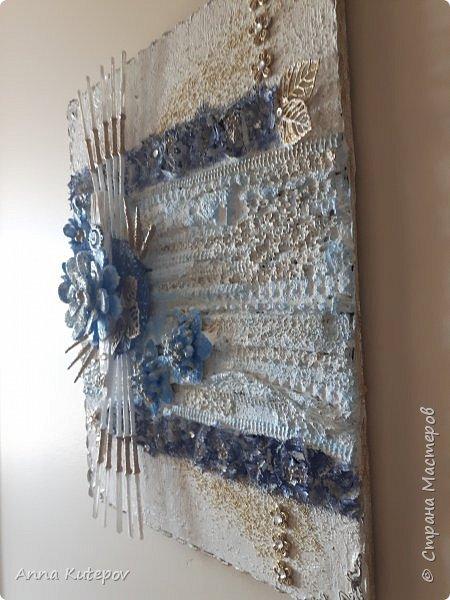 """""""Голубой цветок"""". Панно. фото 4"""