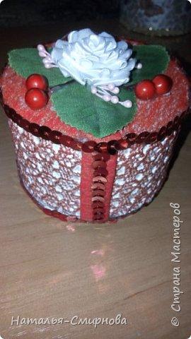 Решила попробовать сделать шкатулки из бобин от скотча, чего добру-то пропадать )))) фото 6