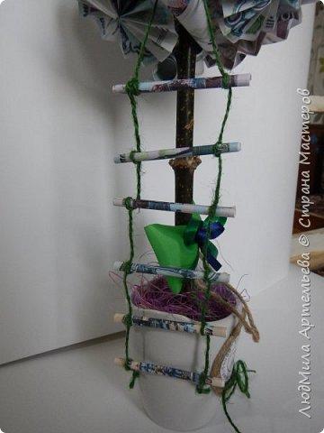 Вот такое богатое денежное деревце для приманивания достатка и материального благополучия в дом. фото 2