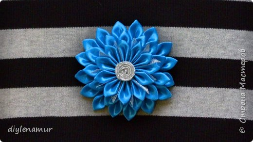 Нарядный атласный цветок своими руками. Видео мастер-класс канзаши