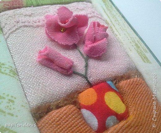 Добрый день. Вот и я со вторым этапом совместника. Кинусайга очень понравилась. Карточки получились такие легкие и уютные, что приятно взять в руки. Надеюсь, мои скромные цветочки понравятся участникам совместника.  фото 10