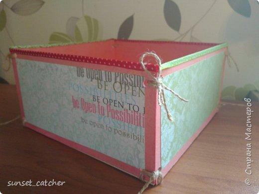 Разбираю завалы, остался материал, и,  чтобы не выкидывать, состряпала вот такую коробочку. Делается очень просто, материалы тоже очень просты :)  фото 10
