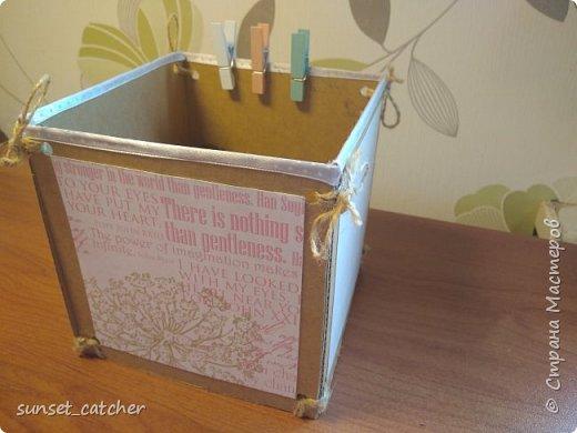 Разбираю завалы, остался материал, и,  чтобы не выкидывать, состряпала вот такую коробочку. Делается очень просто, материалы тоже очень просты :)  фото 12