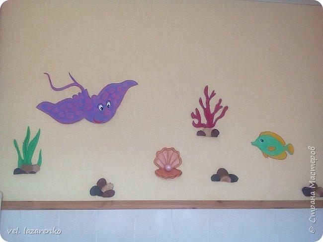 """Оформление туалетной комнаты """"Подводный мир"""" фото 2"""