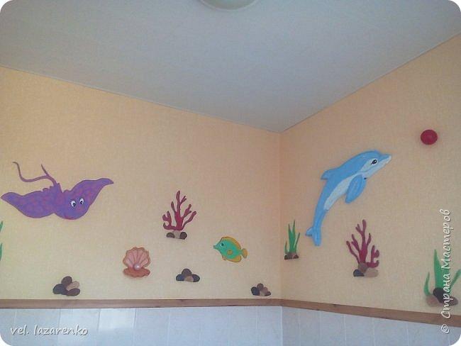 """Оформление туалетной комнаты """"Подводный мир"""" фото 3"""