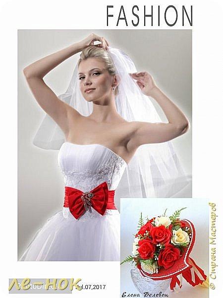 Всем здравствуйте:-)  Букет и корзинка на свадьбу,которая будет оформлена в бело-красных тонах  фото 7