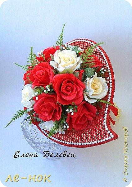 Всем здравствуйте:-)  Букет и корзинка на свадьбу,которая будет оформлена в бело-красных тонах  фото 2