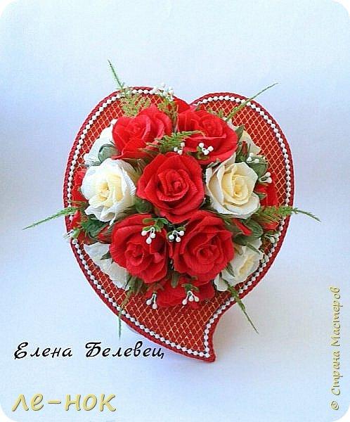 Всем здравствуйте:-)  Букет и корзинка на свадьбу,которая будет оформлена в бело-красных тонах  фото 3