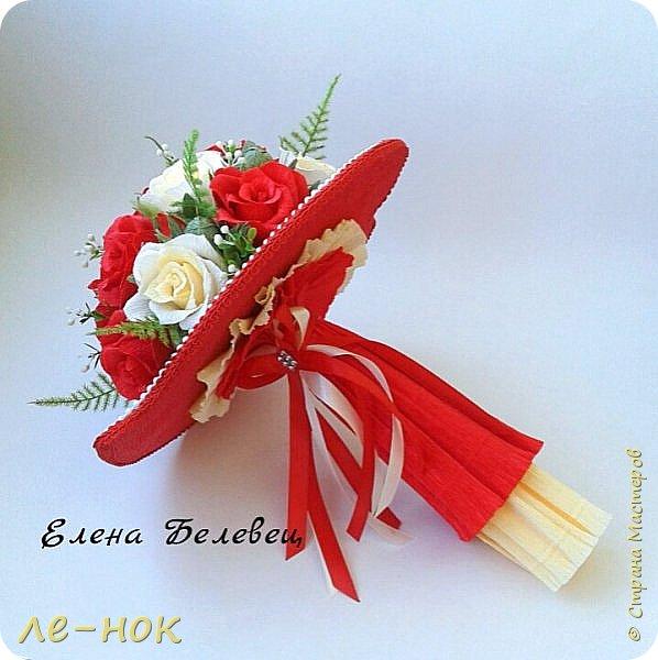 Всем здравствуйте:-)  Букет и корзинка на свадьбу,которая будет оформлена в бело-красных тонах  фото 5