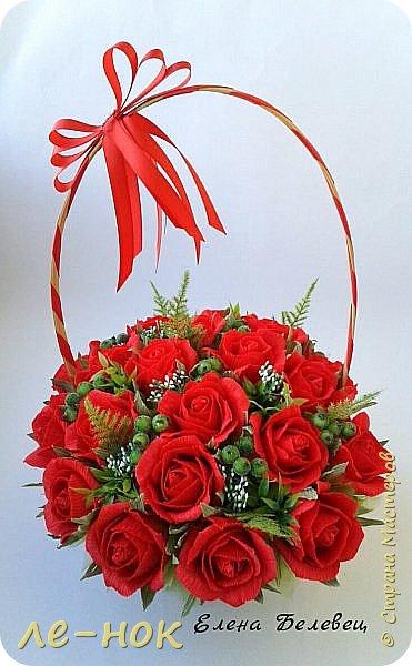 Всем здравствуйте:-)  Букет и корзинка на свадьбу,которая будет оформлена в бело-красных тонах  фото 6