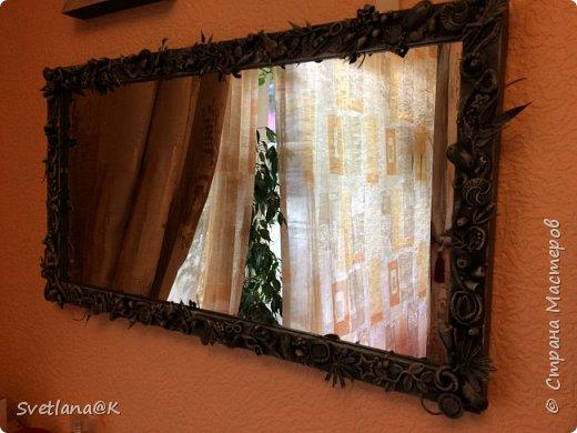 Всем доброго дня! Представляю Вам своё обновлённое зеркало. Купила недорогое зеркало, которое требовало доработки..... Небольшой фотоотчет... фото 10