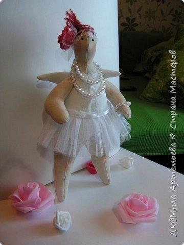 Вот такая девочка недавно у меня уродилась) В процессе работы запланированная толстушка-купальщица заявила, что способна на большее, ... и получилась вот такая балерина XXL!  фото 2