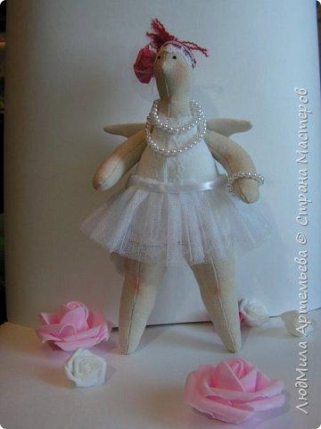 Вот такая девочка недавно у меня уродилась) В процессе работы запланированная толстушка-купальщица заявила, что способна на большее, ... и получилась вот такая балерина XXL!  фото 5