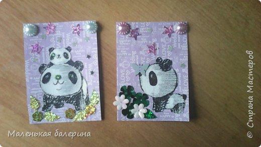 Всем привет сегодня я выкладываю вот такие карточки (серия:панды) фото 1