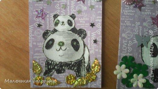 Всем привет сегодня я выкладываю вот такие карточки (серия:панды) фото 2
