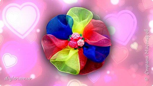 Делаем яркие бантики для маленьких принцесс. Видео мастер-класс канзаши