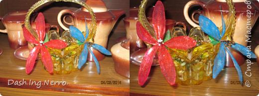 """""""Витражные цветы в хрустальной вазе"""".  Так выглядели витражные цветы, когда я их поставила на окно в хрустальную вазу. Чёрный трилистник тоже витражный и к сожалению, он где-то потерялся.  фото 2"""
