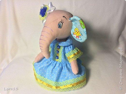 Знакомьтесь - слоняша Маша. Высота 26см фото 2
