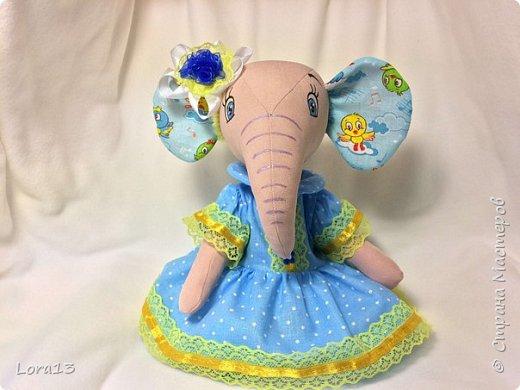 Знакомьтесь - слоняша Маша. Высота 26см фото 3