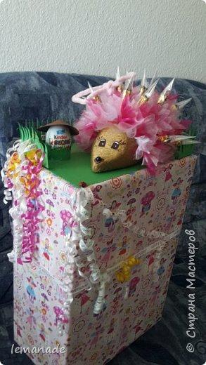 Здравствуйте мастра и мастерицы, хочу поделиться с вами созданием своего красочного ёжика, за вдохновение  спасибо Светлане и её МК http://stranamasterov.ru/node/229835. фото 1