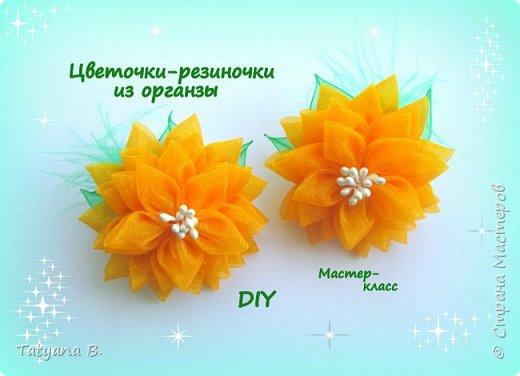 Цветочки-резиночки из органзы