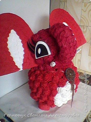 Слоненок Дамбо на день рождения ребенку ( можно и взрослому) Идею  увидела у польской мастерицы Евы Pantak, изменив  ее под себя. фото 18