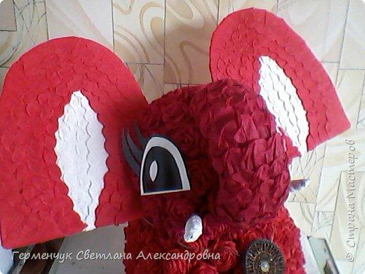Слоненок Дамбо на день рождения ребенку ( можно и взрослому) Идею  увидела у польской мастерицы Евы Pantak, изменив  ее под себя. фото 20