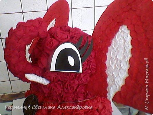 Слоненок Дамбо на день рождения ребенку ( можно и взрослому) Идею  увидела у польской мастерицы Евы Pantak, изменив  ее под себя. фото 24