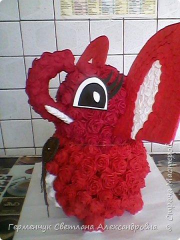 Слоненок Дамбо на день рождения ребенку ( можно и взрослому) Идею  увидела у польской мастерицы Евы Pantak, изменив  ее под себя. фото 25