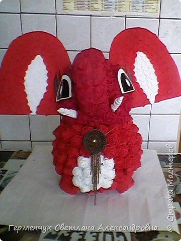Слоненок Дамбо на день рождения ребенку ( можно и взрослому) Идею  увидела у польской мастерицы Евы Pantak, изменив  ее под себя. фото 28