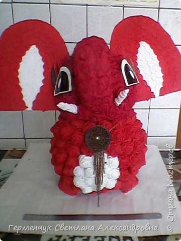 Слоненок Дамбо на день рождения ребенку ( можно и взрослому) Идею  увидела у польской мастерицы Евы Pantak, изменив  ее под себя. фото 30