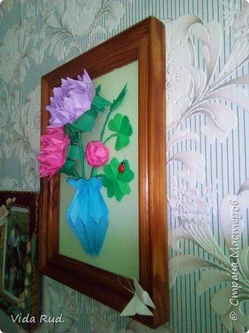 Цветок клевера брала здесь http://stranamasterov.ru/node/212998?c=favorite ,а пионы http://stranamasterov.ru/node/83708 . фото 2