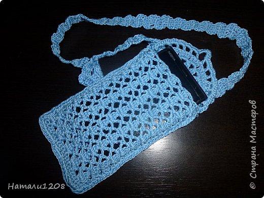 Связала внучке  сумочку для телефона. фото 2