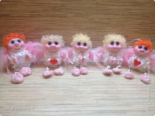 """Здравствуйте,жители Страны Мастеров!!! Сегодня я снова показываю ангелочков,только на этот раз они маленькие (9 - 11 см),поэтому и назвала """"мини""""))). Это первая партия из трёх ангелочков. Всего сшито восемь штук. фото 11"""