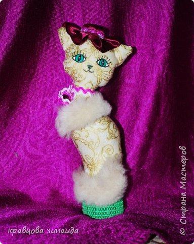 Добрый день моя любимая СТРАНА МАСТЕРОВ , сегодня я к вам со своими любимыми кисками , шьются не сложно , а смотрятся красиво , как статуэточки . 1. Первая в розовой шляпке фото 6