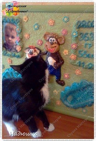 """Одна из последних картин по мк Ольги Родионовой. Герои из мультика """"Тигренок и обезьянка"""". Это был мой """"долгострой"""". По некоторым обстоятельствам всё это затянулось, попались не очень добросовестные заказчики (не по этой картине конечно, по другой работе...) и я немного упала духом. Но всё плохое забывается, лучшее конечно впереди))) фото 9"""