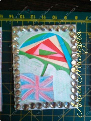 Привет,девочки!!! Мне уже сняли гипс, я быстренько сделала серия карточек. Почему зонты? Потому-что Англия туманная и сырая страна. поэтому что бы вы не промокли,я дарю вам зонтики!!!! фото 4
