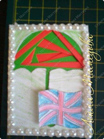 Привет,девочки!!! Мне уже сняли гипс, я быстренько сделала серия карточек. Почему зонты? Потому-что Англия туманная и сырая страна. поэтому что бы вы не промокли,я дарю вам зонтики!!!! фото 6