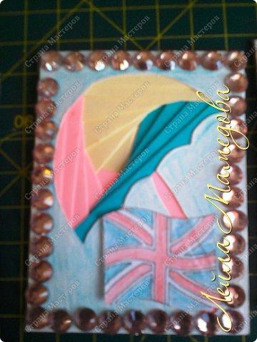Привет,девочки!!! Мне уже сняли гипс, я быстренько сделала серия карточек. Почему зонты? Потому-что Англия туманная и сырая страна. поэтому что бы вы не промокли,я дарю вам зонтики!!!! фото 8